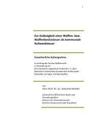 Gutachten zur Zulässigkeit einer Waffen - Newsroom.de