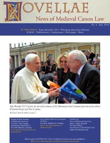 Issue no. 6 July, 2010 - Centre for Medieval Studies - University of ...