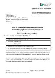 Anmeldeformular (inkl. biographischen Fragebogen)