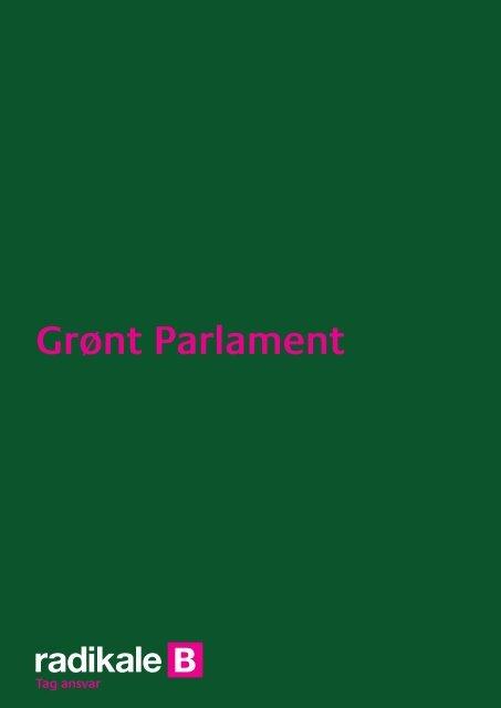 Grønt Parlament - Radikale Venstre
