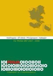 Handlingsplan • GF-referat • Principprogram • Vedtægter For ... - Prosa