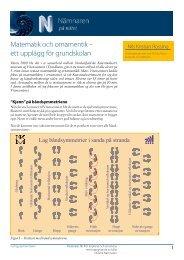Matematik och ornamentik – ett upplägg för grundskolan - Ncm