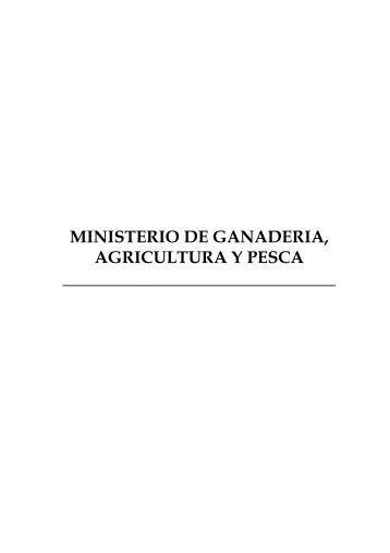 ministerio de ganaderia, agricultura y pesca - Portal del Estado ...