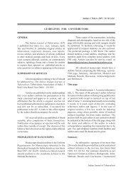 GUIDELINES FOR CONTRIBUTORS - medIND