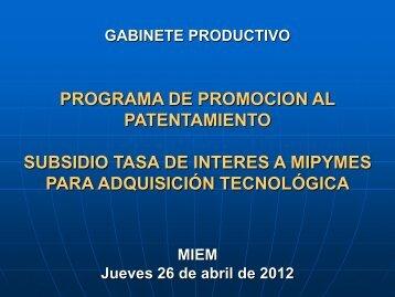 subsidio tasa de interes para adquisicion tecnologica - Portal del ...