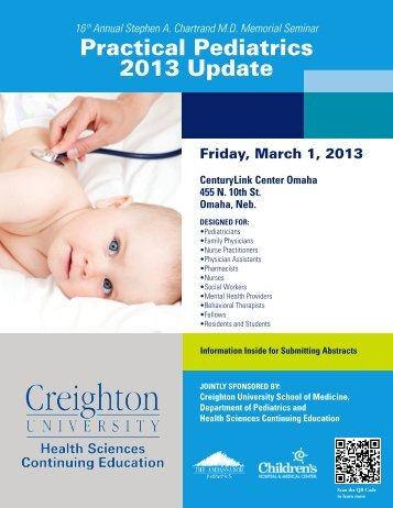 Practical Pediatrics 2013 Update - Creighton University School of ...