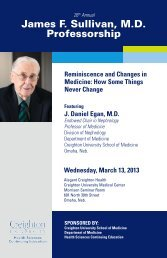 View the Brochure for this Event - Creighton University School of ...