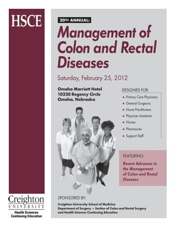 Management of Colon and Rectal Diseases - Creighton University ...