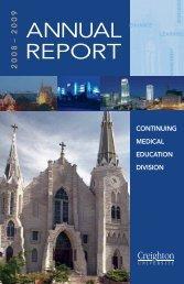 CME Annual Report - Creighton University School of Medicine