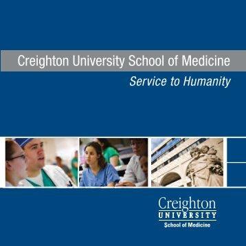 Admissions Brochure - Creighton University School of Medicine