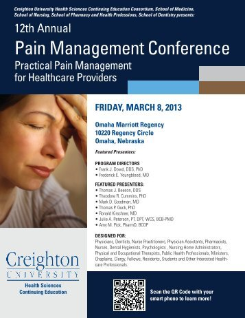 Pain Management Conference - Creighton University School of ...