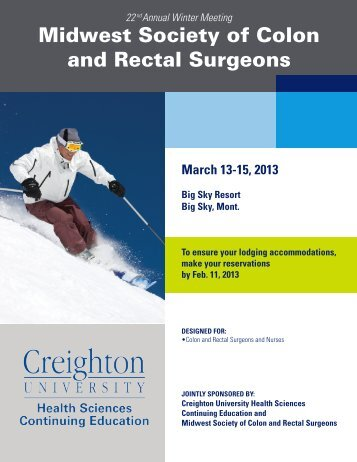 Midwest Society of Colon and Rectal Surgeons - Creighton ...
