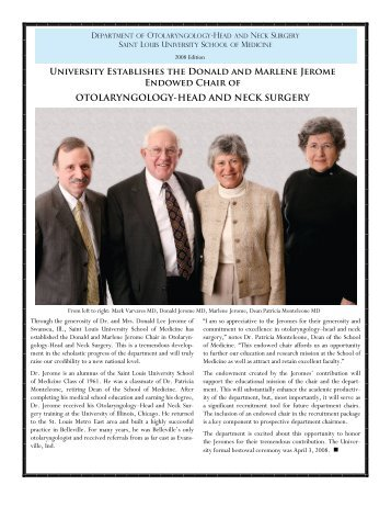 University Establishes the Donald and Marlene Jerome Endowed ...