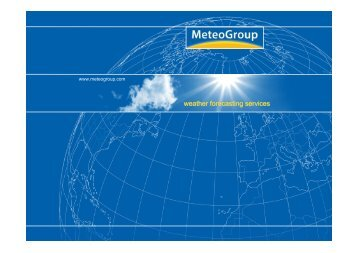 weather forecasting services - Copernicus Meetings