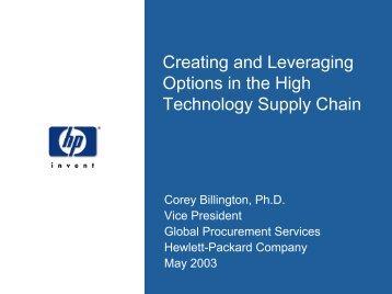 Managing Uncertainties in Supply Chain & Procurement
