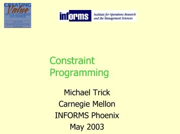 Constraint Programming