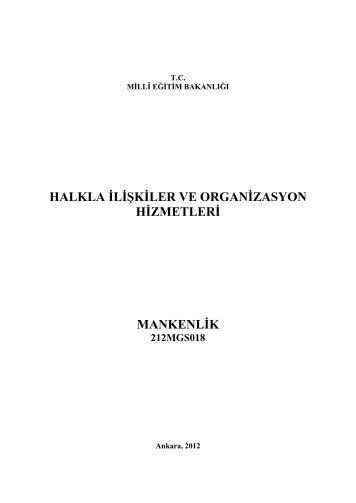 halkla ilişkiler ve organizasyon hizmetleri mankenlik - Megep