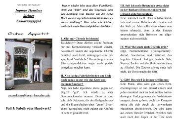 Flugblatt Folge 5: Fabrik oder Handwerk? (PDF)