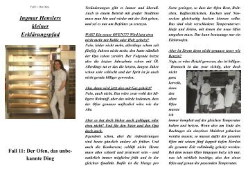 Flugblatt Folge 11: Der Ofen, das unbekannte Ding. (PDF)