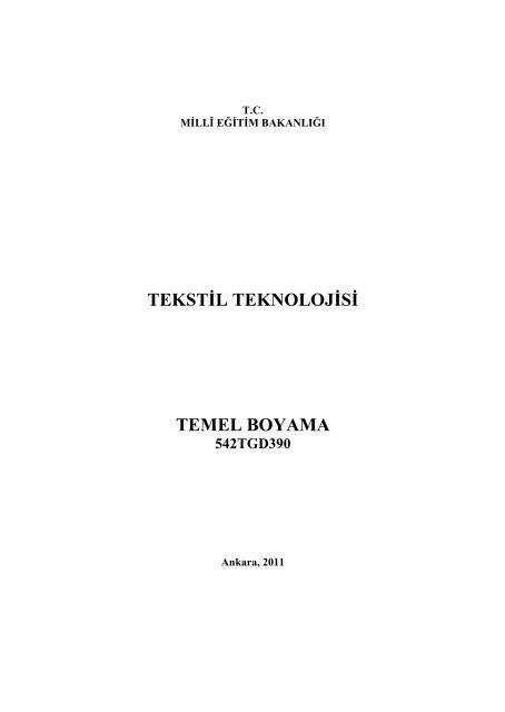 Tekstil Teknolojisi Temel Boyama 542tgd390 Megep