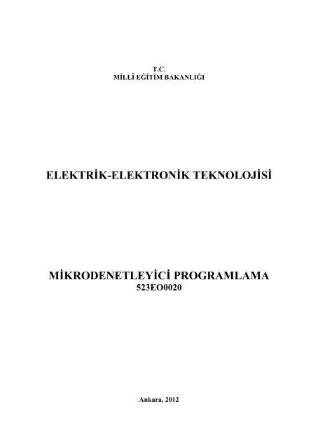 Mikrodenetleyici Programlama.pdf - Megep