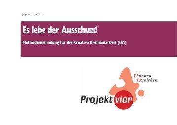 Methodensammlung für die kreative Gremienarbeit - Mein-JRK.de