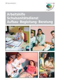 Arbeitshilfe - Schulsanitätsdienst für Schulen - Jugendrotkreuz