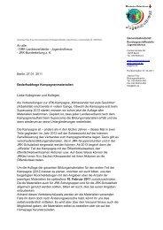 Bedarfsabfrage Kampagnenmaterialien - Mein-JRK.de
