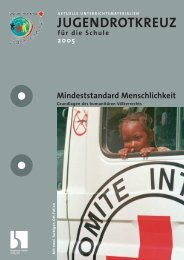 Mindeststandard Menschlichkeit - Jugendrotkreuz