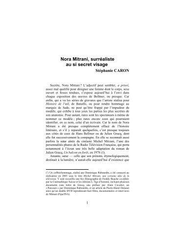 Télecharger au format pdf - Centre de Recherche sur le Surréalisme