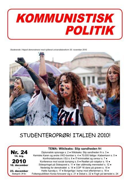 Kommunistisk Politik 24, 2010