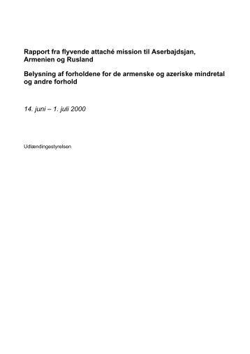 Udlændingestyrelsens Factfinding rapport fra 2000 - Støttekredsen ...
