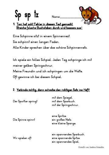 Arbeitsblatt Vorschule deutsche sätze bilden : Buchstaben erkennen und einkreisen (PDF-Datei) - member