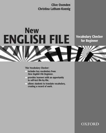 New ENGLISH FILE Vocabulary Checker For Beginner - Webs