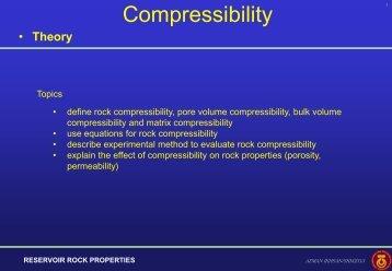 Compressibility measurement - Webs