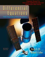 Does the differential equation dy dx - Webs