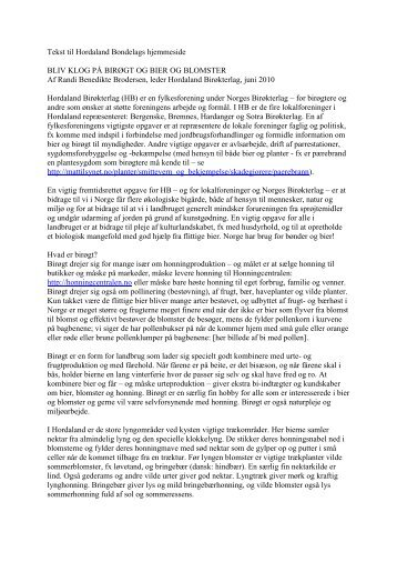 Tekst til Hordaland Bondelags hjemmeside - Norges Bondelag