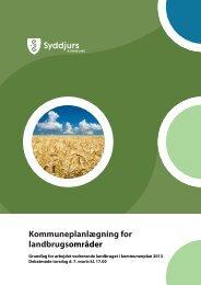 Kommuneplanlægning for landbrugsområder - Syddjurs Kommune