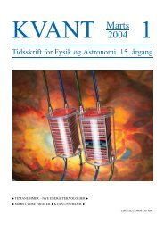 Tidsskrift for Fysik og Astronomi 15. ˚argang - Horsens HF og VUC