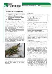 Gødskning af engrapgræs - DLF-TRIFOLIUM Denmark
