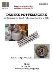 2012 - Medlemsblad nr. 30 - Pottemagere   Keramiker