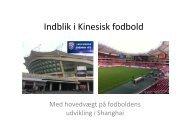 Fodboldens udvikling i Kina - DBU