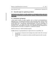 8.1 Generelle regler for registrering af aktiver - Budget- og ...