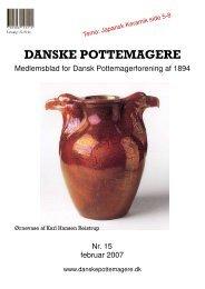 2007 - Medlemsblad nr. 15 - Pottemager