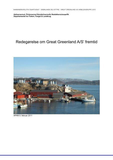 Redegørelse om Great Greenland A/S' fremtid - Nanoq