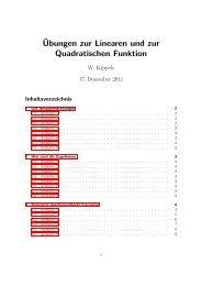 Aufgaben zur Linearen und Quadratischen Funktionen Hier stehen ...