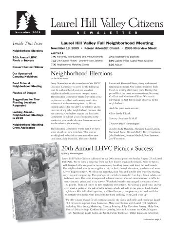 Laurel Hill Valley Citizens Newsletter - Members.efn.org