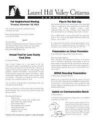 Laurel Hill Valley Citizens Fall '10 Newsletter - Members.efn.org