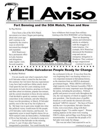Fall 2009 El Aviso - Members.efn.org