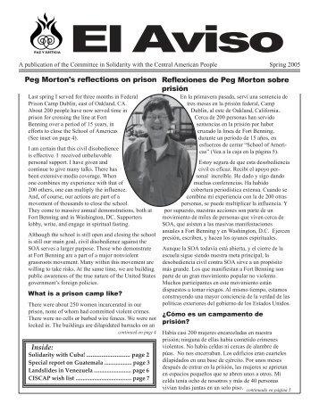 Spring 2005 El Aviso - Members.efn.org